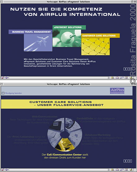 """Webdesign: Microsite, Rundgang """"AirPlus ePayment Solutions"""""""