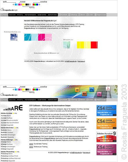 """Meine 1. """"eigene Website"""", die war damals noch nicht mit WordPress erstellt... ;-)"""