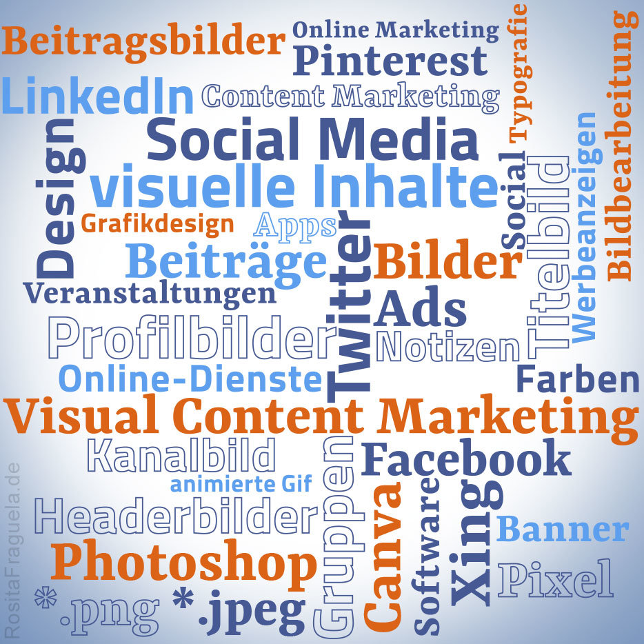 Informationen und Wissen für Dein Visual Content Marketing, Profilbilder, Titelbilder, Beitragsbilder, Social Media Bildgrößen für 2019