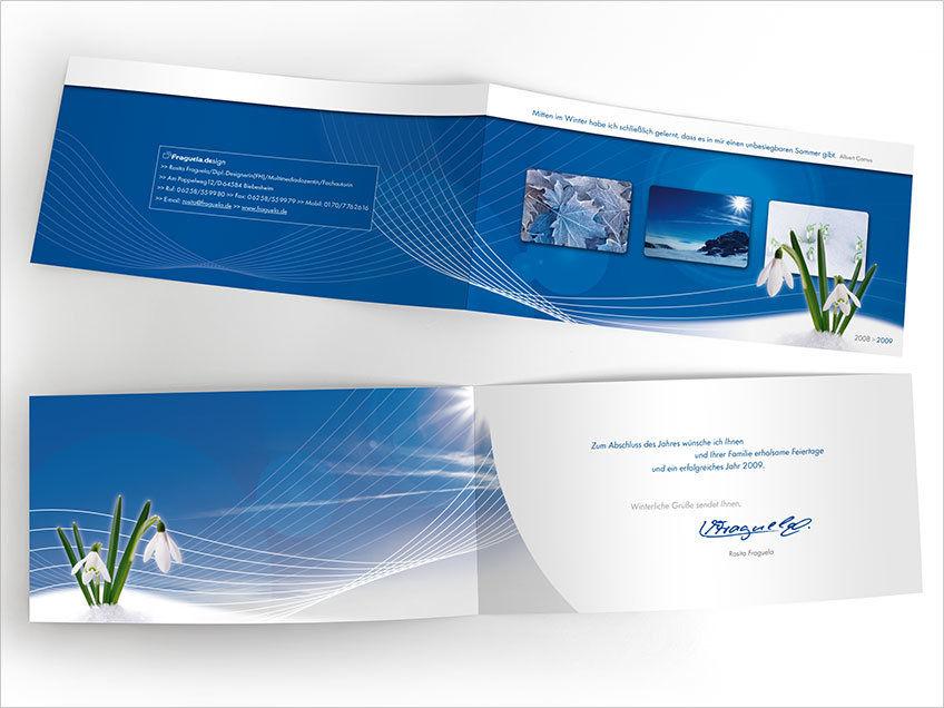 Design & Bildbearbeitung Weihnachtskarte