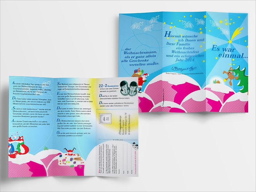 6-seitiger Wickelfalz, Design & Illustration von Rosita Fraguela