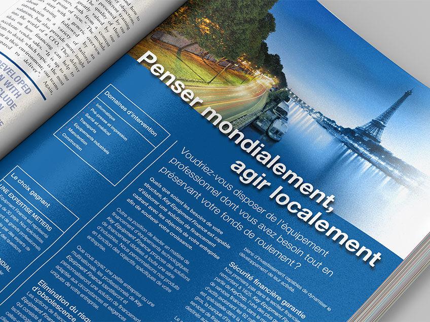 Image-Anzeige, die in einer Finanzfachzeitschrift geschaltet wurde