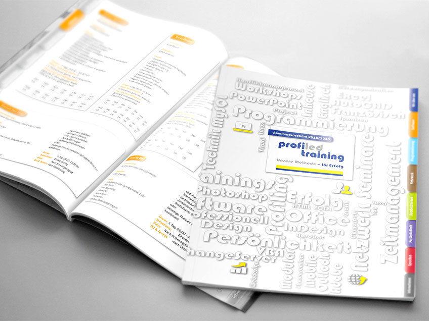 InDesign Template für den Seminarkatalog eines Schulungsunternehmens
