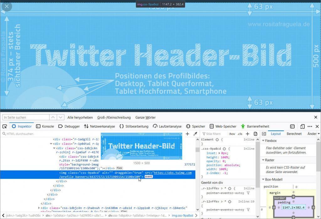 Twitter Titelbild, optimale Größe, Breite x Höhe in Pixel, 2020