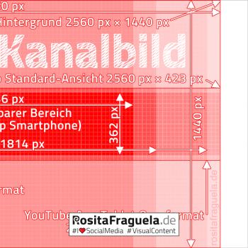 Die optimalen Maße für YouTube Kanalbilder in Pixel (Breite x Höhe)