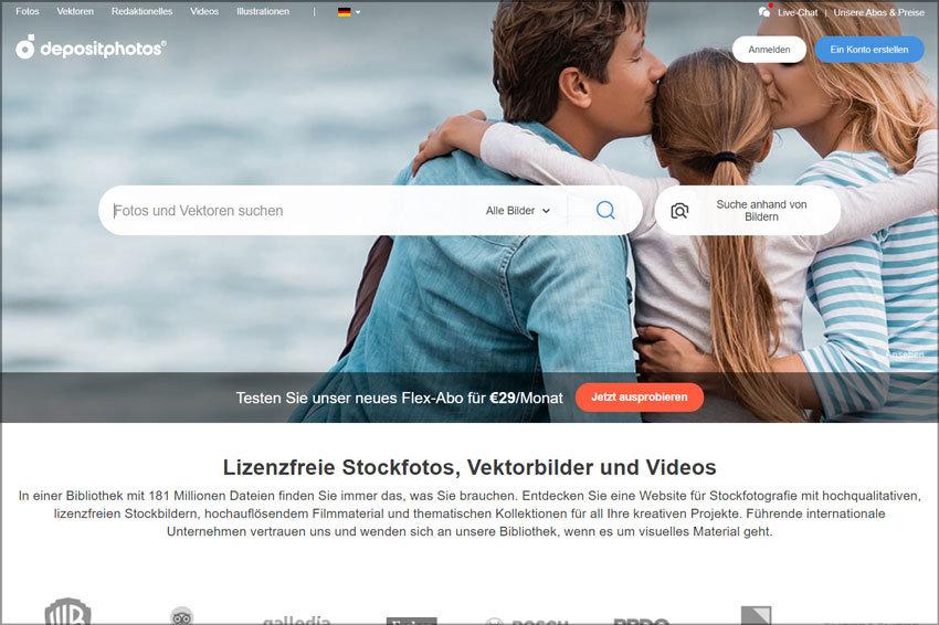 Test & Übersicht Bildagenturen – Depositphotos: Stockbilder, Vektoren und Videos günstig kaufen, Informationen, Nutzungsbedingungen, lizenzfrei, Stockfotografie