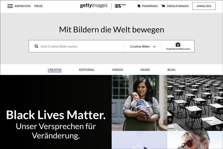 gettyimages – Übersicht über kostenlose und kostenpflichtige Bilddatenbanken bzw. Bildagenturen