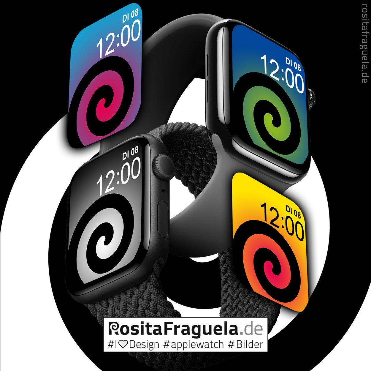 24 × Design-Motive für Deine Apple Watch – Bilder, Illustrationen, Kunstwerke
