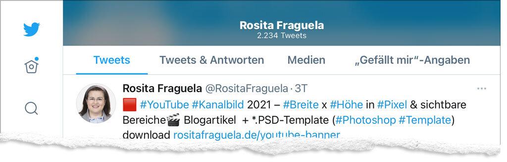 Twitter App iOS Profil 2021 – responsives Design User Interface Header Titelbild Training Social Media