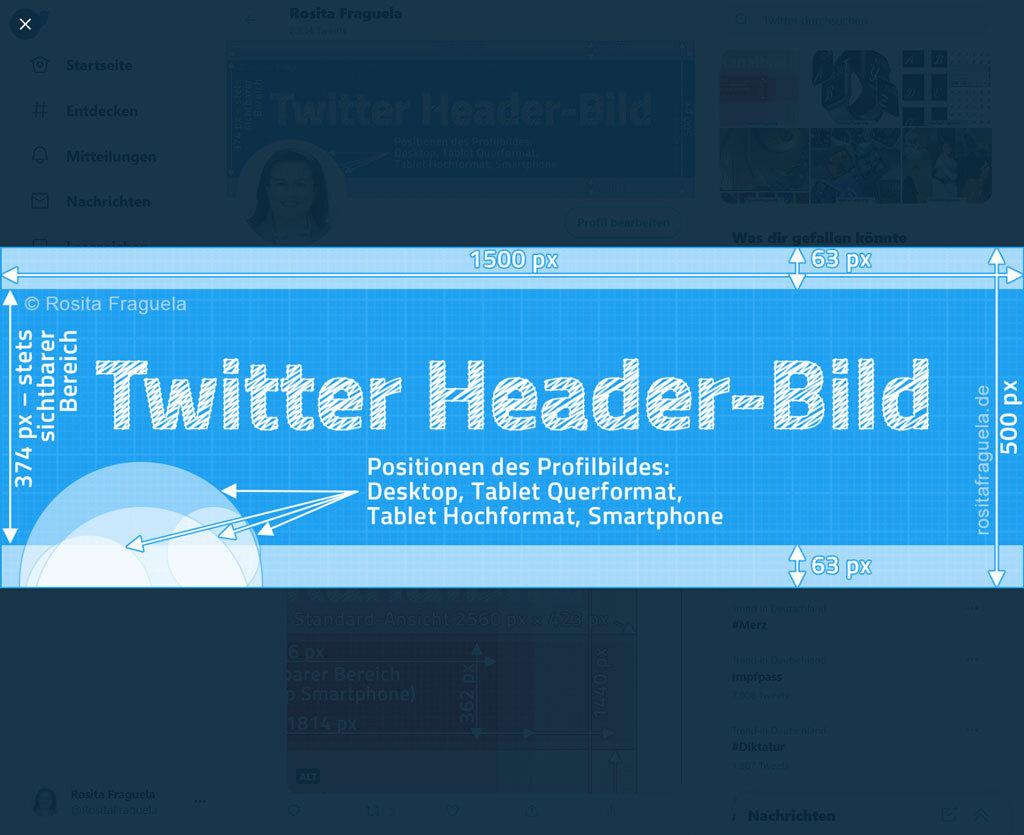 Twitter Header-Bild 2021 rmaximiert, esponsives Design, UserInterfes, UI, Design, Photoshop Template